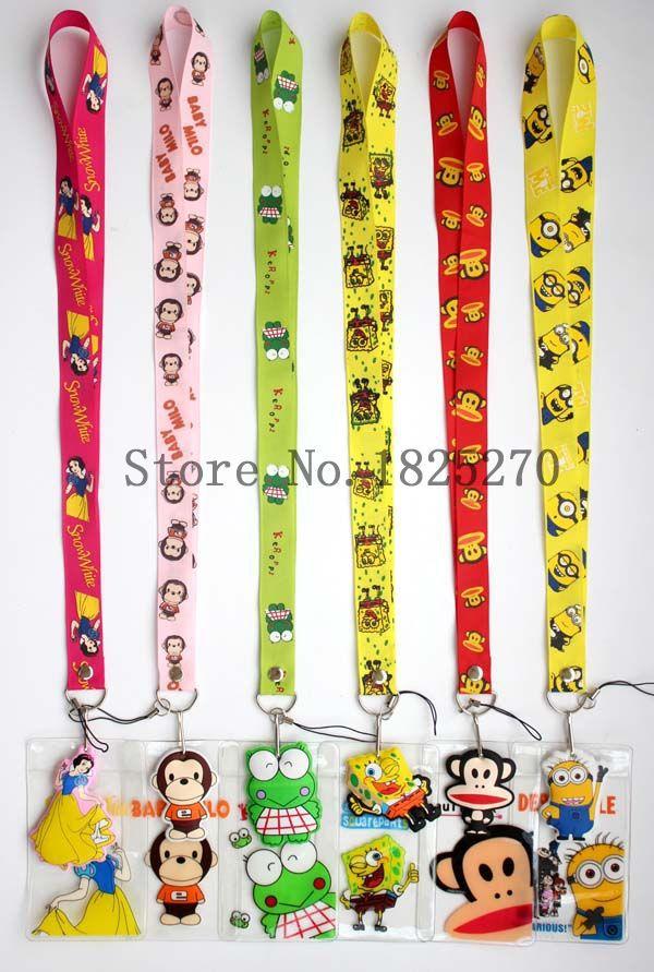 2015 sale new 180 pcs Cartoon child elastic lanyard,badge bus card sets lanyards Free shipping(China (Mainland))
