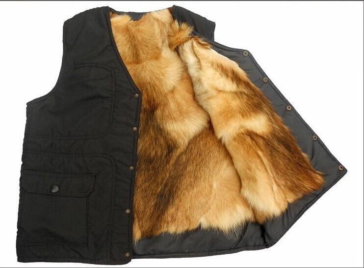 Осенью и зимой на открытом воздухе мужчин из натуральной кожи quinquagenarian вниз жилет мужской мех цельный тепловой меховой жилет мужской жилет