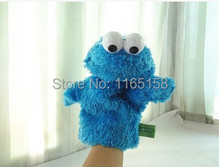 25 cm high quality Sesame street toy Elmo Big Bird Cookie Monster hand puppet doll Educational plush toy for children XMAS gift(China (Mainland))