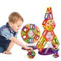 47Pcs Lot Magnetic Designer Building Blocks Models Windmill Rocket 3D DIY Plastic Creative Bricks Learning Educational