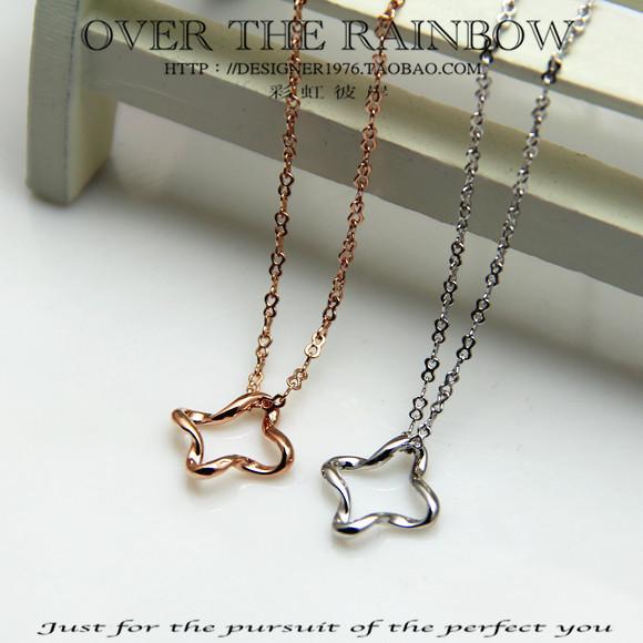 Fashion female necklace vintage chain brief zircon 18k