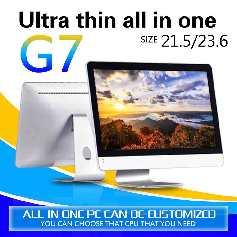 Dual Core Desktop PC G7 Core i3-4130 Dual Core 4GB RAM 500GB SSD Support Ubuntu Linux 12.04 Touch Screen All In One PC(China (Mainland))