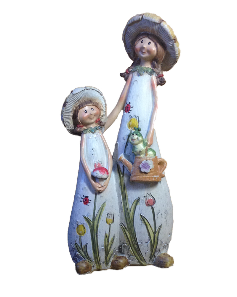 Resin Angel Models Resin Figure The Mother and Daughter Crafts Wonderful Gifts for Mothers and Daughters(China (Mainland))