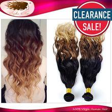 Grade 6A Ombre Brazilian Human Hair Weave 2 Bundles/Lot,Sophia Hair Products Wet and Wavy Virgin Brazilian Hair Clearance