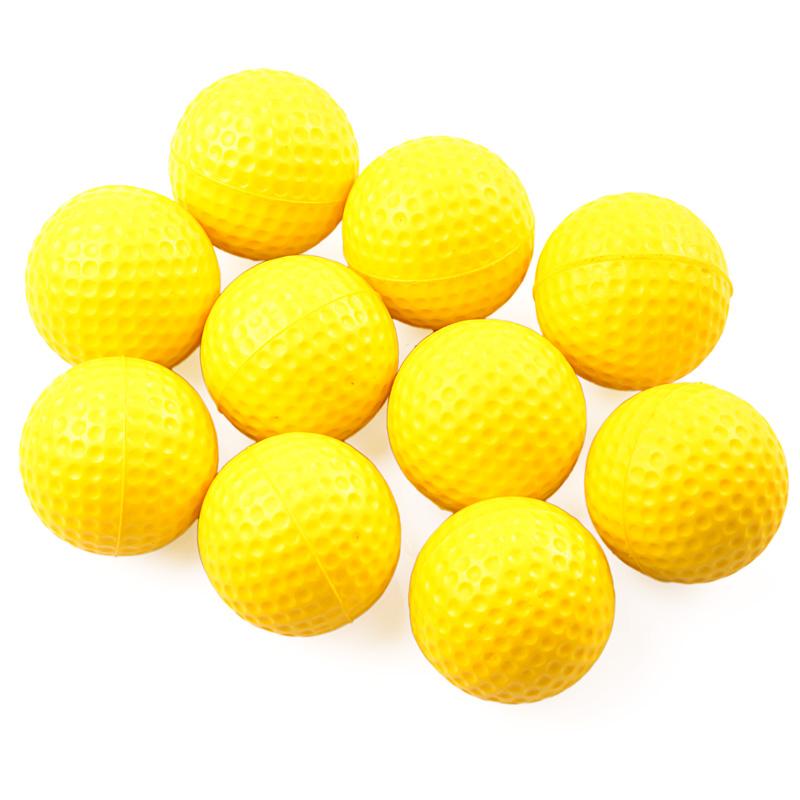 New 10pcs Yellow PU Soft Golf ball Indoor Outdoor Training Practice Elastic Foam Golf Balls(China (Mainland))