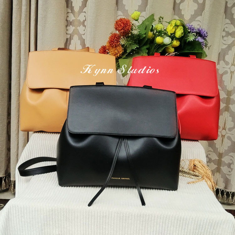 2015 Autumn New arrival Mansur Gavriel lady bag real leather women shoulder bag genuine leather female handbag,free shipping(China (Mainland))