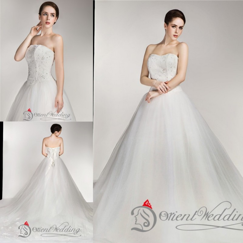 Buy sparkly strapless custom made plus size country style for Plus size beaded wedding dresses