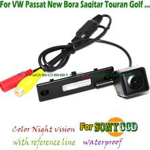 wire wireless sony ccd car rear camera for VW POLO Jetta Passat Touran Golf 5 golf 6 golf6 caddy parking assist night vision(China (Mainland))