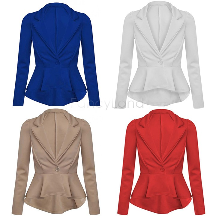 Women Formal Blazer OL Jackets Coat Lapel One Button Coat Outerwear Suit Women Blazer 2014 New Free Shipping 18(China (Mainland))