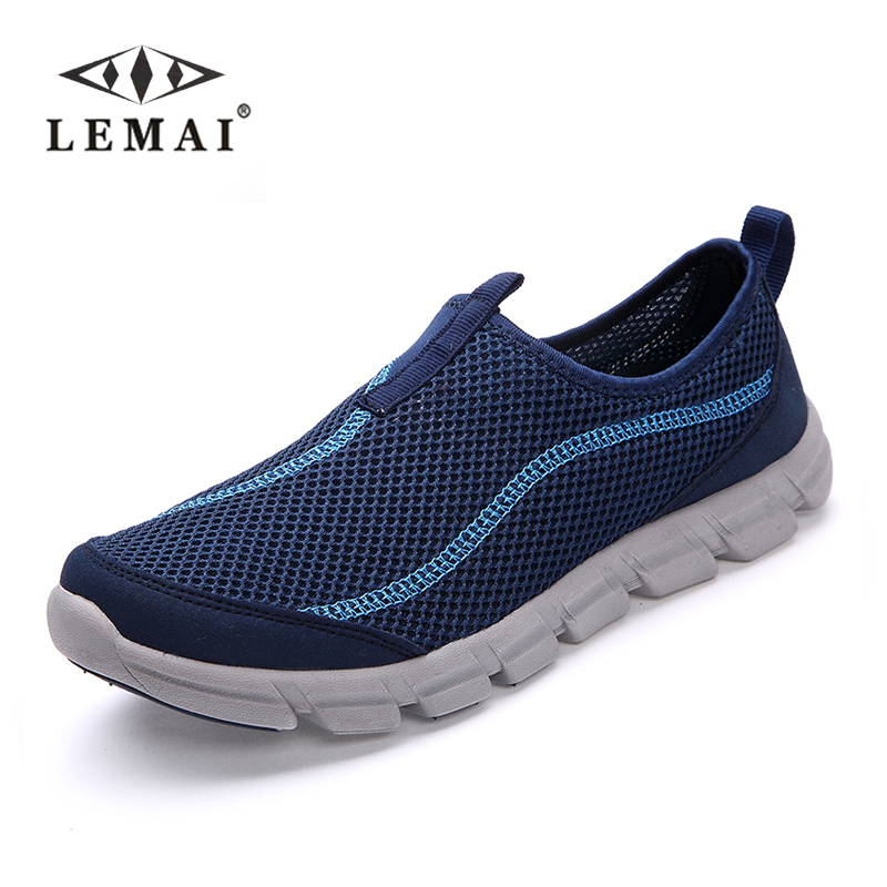 LEMAI 2017 New Men Casual Shoes, Summer Breathable Mesh Zapatillas For Men,Super Light Flats Shoes, Foot Wrapping Big Size(China (Mainland))