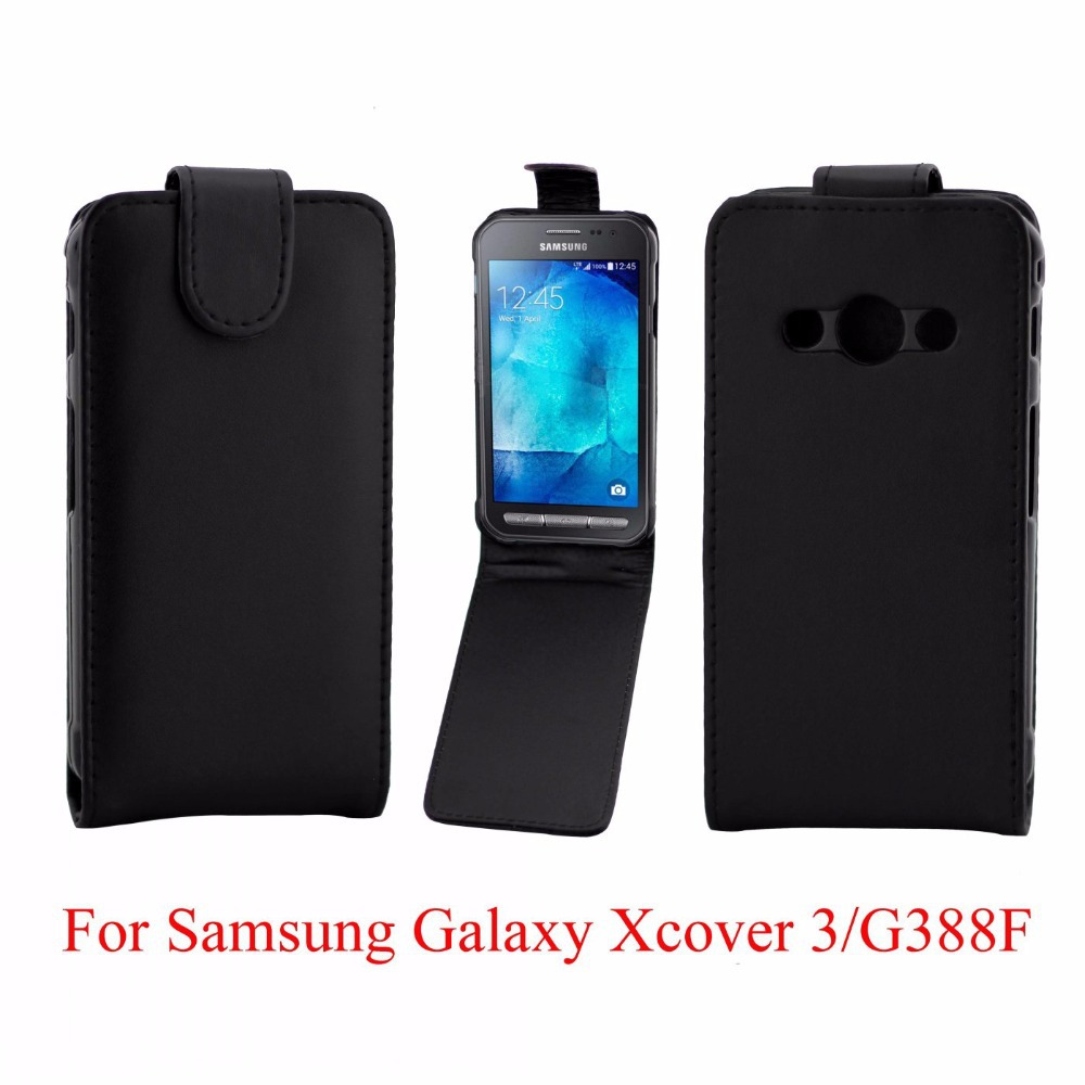 Leather Skin Flip Case Cover Pouch For Samsung Galaxy Xcover 3 G388F G388(China (Mainland))