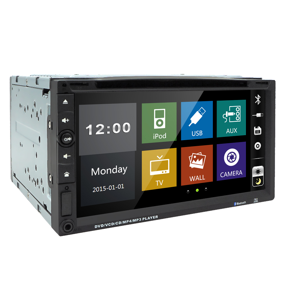 Car Electronic 2 din Car DVD Player 6.95inch 2din Universal Car Radio In Dash Bluetooth Stereo Video(China (Mainland))