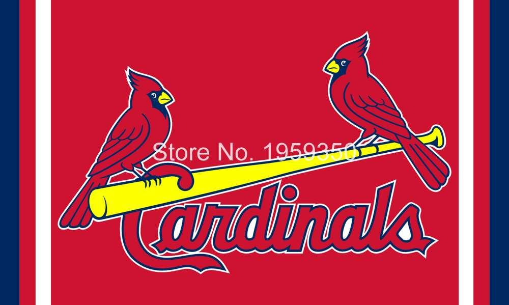 st louis cardinals team logo flag 3ft x 5ft polyester