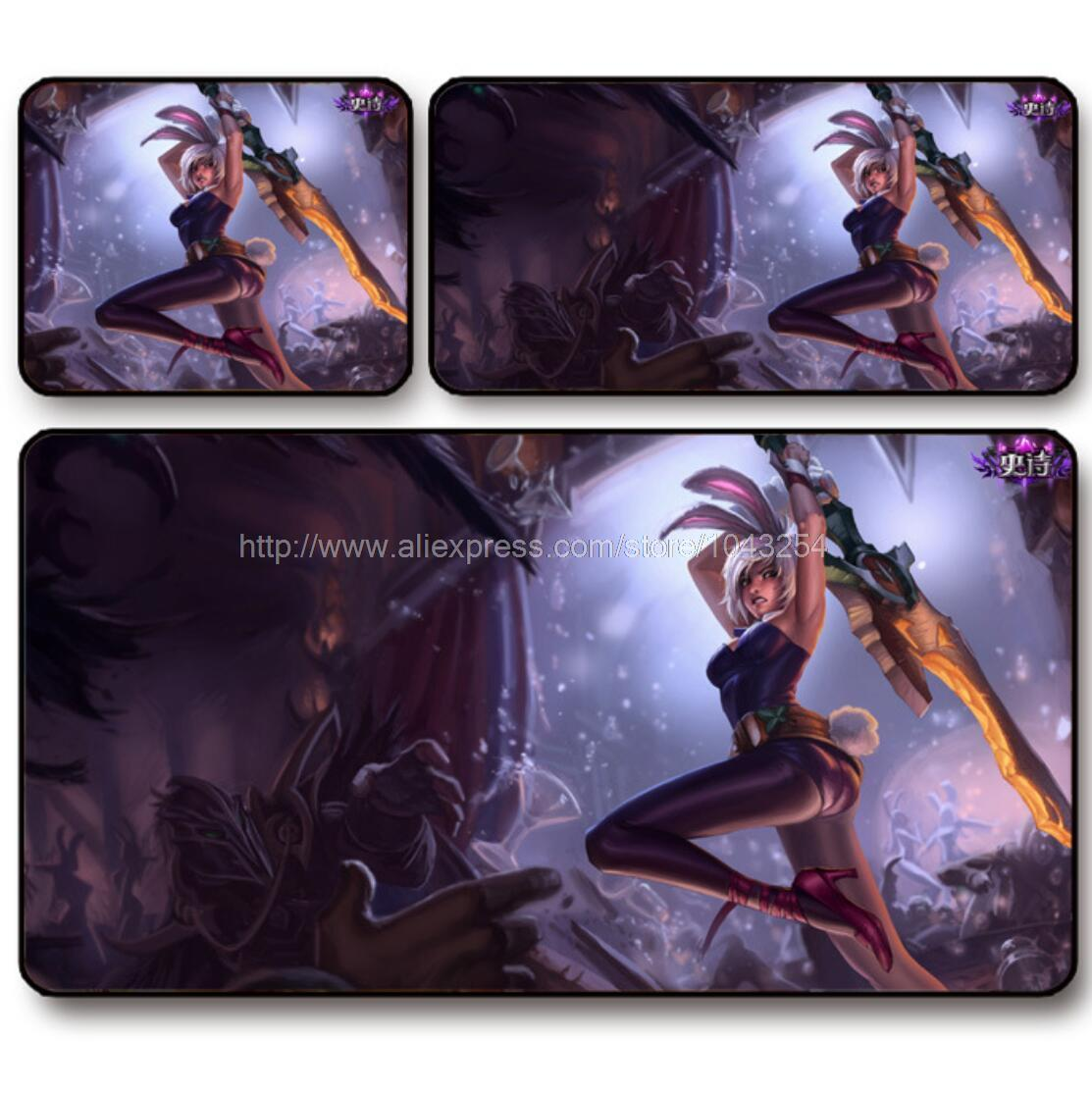 The Exile Riven mouse pad ,League of Legends mouse pad, Speed version locking edge,free shipping(China (Mainland))