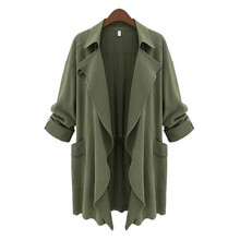 2015 Zanzea New Autumn Women Fashion Solid Color Long Sleeve Open Stitch Cardigan Trench Coat Casaco Feminino 3 Colors Larg Size(China (Mainland))