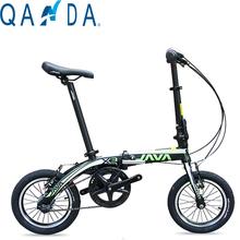 The new 14-inch aluminum alloy folding bike Ultralight JAVA X3 Double Brake bicycle(China (Mainland))