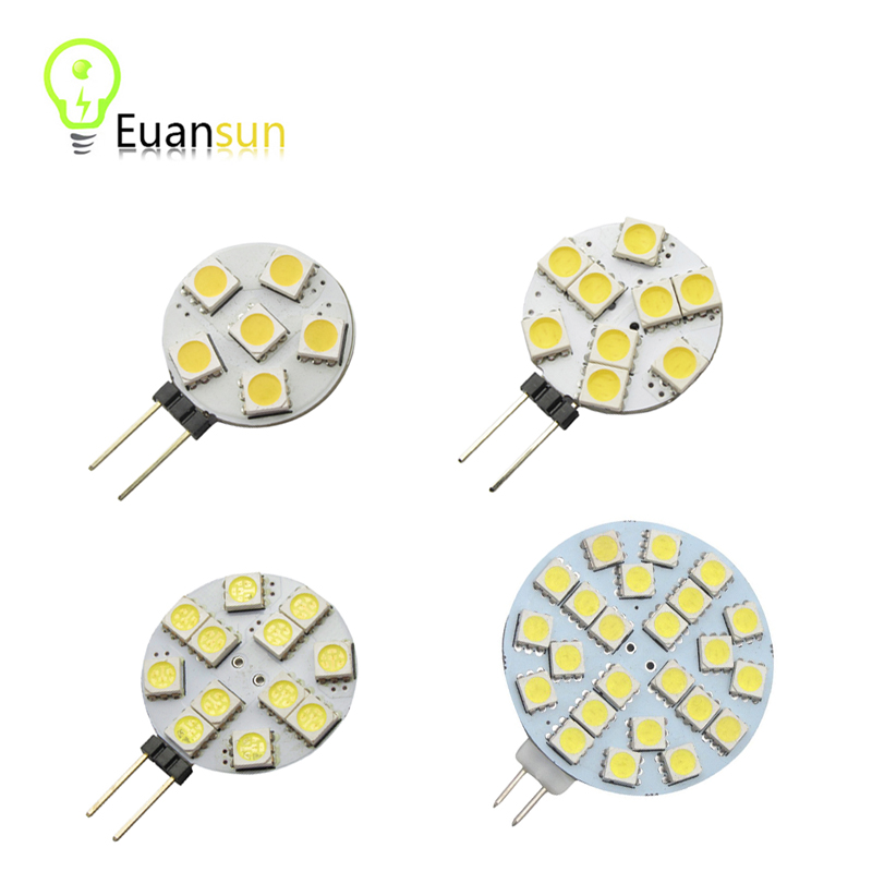 Big Promotion G4 LED Lamp 1W 3W 5050 SMD Spotlight Corn Bulb Car Boat RV Light Cool White Warm White DC12V(China (Mainland))