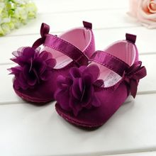 Lovely Toddler Baby Girl Soft Sole Flower Prewalker Crib  Shoes(China (Mainland))