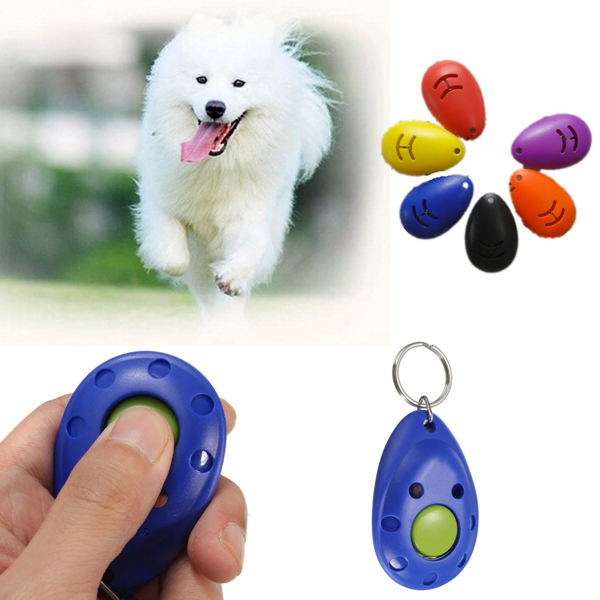 Brand new Dog Pet Puppy Training Clicker Click Button Trainer Obedience Aid Wrist Convenient Color Random(China (Mainland))