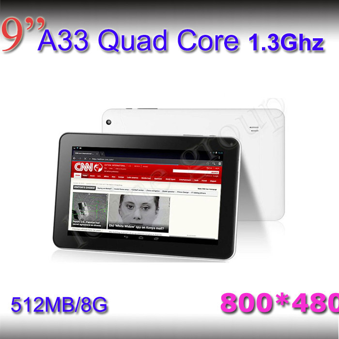 Free shipping 9 inch 1.2GHz allwinner A20 1GB DDR3 8GB dual camera dual core hdmi Android 4.2 cheap mid tablet pc