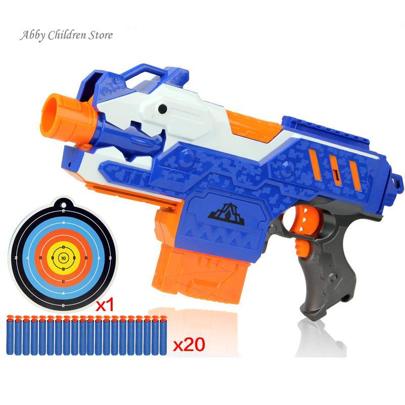 Sniper Rifle Plastic Gun Soft Bullet Toy Gun 20 Bullets 1 Target Electric Gun Toy Christmas Birthday Gift Toy For Child(China (Mainland))