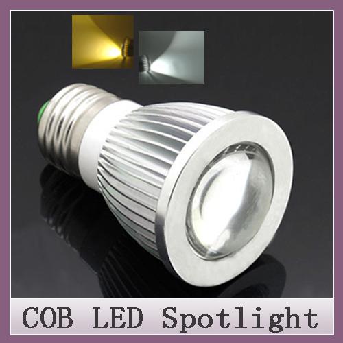 1pcs Free Brand New High Power CREE E27 7W 9W 12W LED COB spotlight lamp bulb warm cool white 85-265V CE ROHS(China (Mainland))