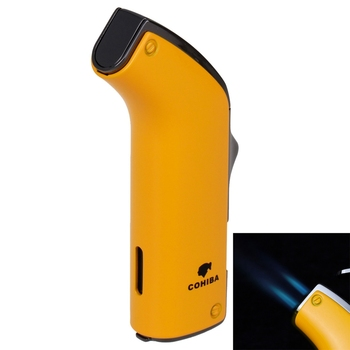 NEW COHIBA Fashion High-Grade Metal Material Windproof Jet Flame Refillable Blue Flame Inflatable Double Flame Lighter hot sale