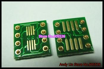 80PCS Gold plated SO8 MSOP8 SOIC8 TSSOP8 SOP8 turn DIP8 IC adapter Socket Adapter plate PCB (NO IN Pin Header)