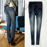 2012 spring autumn adjustable maternity  skinny jeans pregant woman pants  abdominal trousers bellly pants