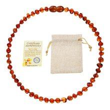 Dr clássico natural âmbar colar certificado de fornecimento autenticidade genuíno báltico âmbar pedra bebê colar presente 10 cor 14-33cm(China)