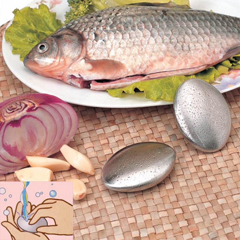 Hot Sale Stainless Steel Soap Oval Shape Deodorize Smell From Hands Retail Magic Eliminating Odor Kitchen Bar Bath Soap(China (Mainland))