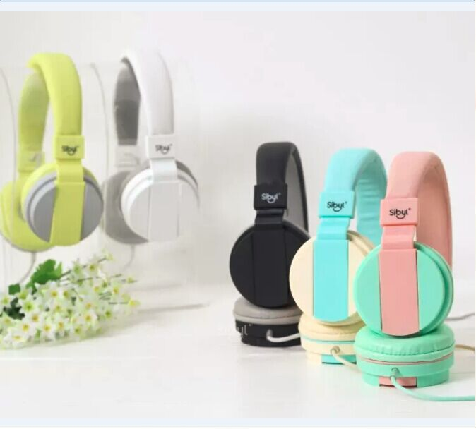 2016 candy girls foldable stereo font b Headphone b font with Mic for Iphone Samsung MI