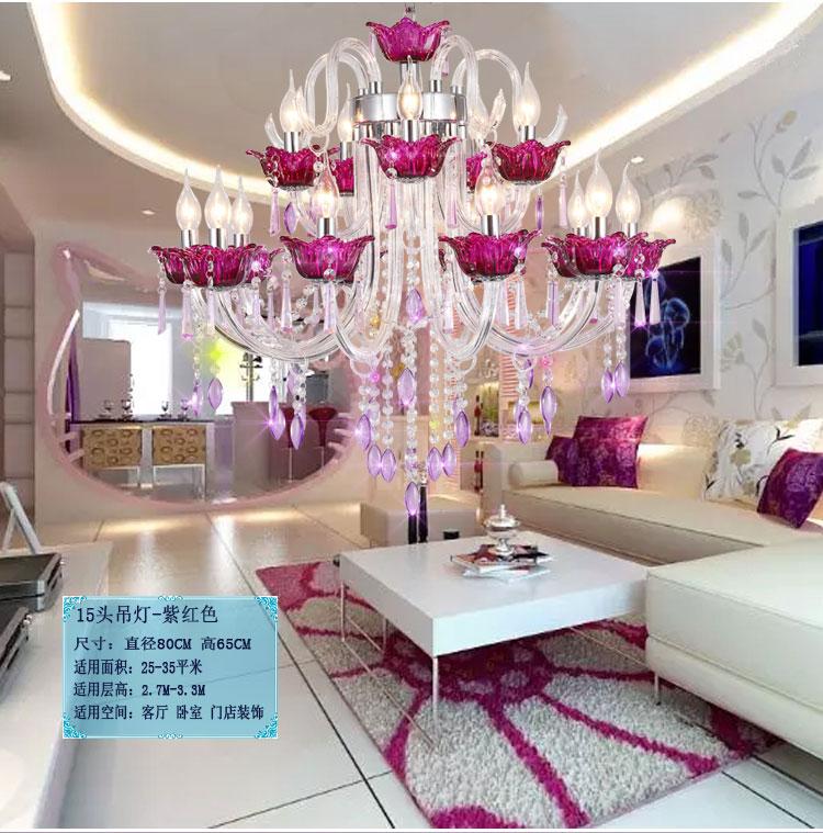 lampadari grandi dimensioni : Acquista allingrosso Online red lampadario di cristallo da Grossisti ...
