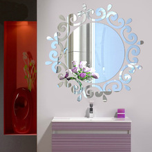 2016 New Big 3D Wall Stickers Decor Modern Acrylic Living Home Large Mirror Pattern Surface Diy Real Sticker - BanMu Art store
