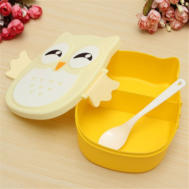 Portable Children Cute Cartoon Picnic Carry Tote Storage Bag Owl Food-safe Food Picnic Container(China (Mainland))