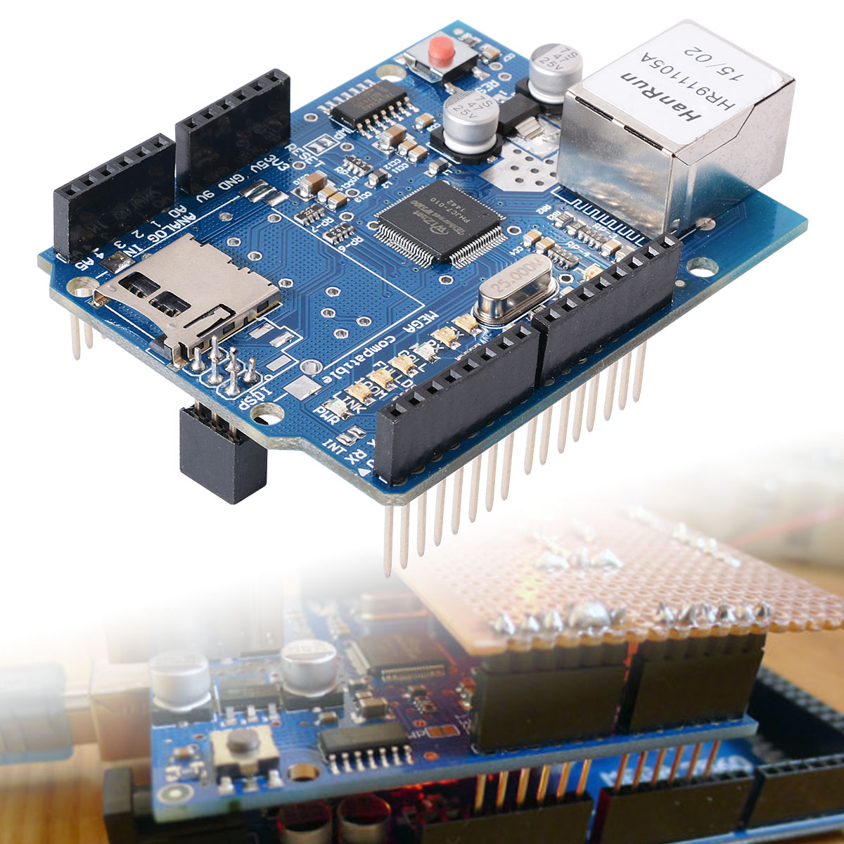 Ethernet Shield W5100 Network Expansion Board For Arduino UNO R3 Mega 2560 TE146(China (Mainland))