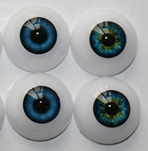 Free Shipping high quality half Round Acrylic Doll Eyes 20 mm fits 20 inch reborn baby kits Eyeballs colorful doll eyes(China (Mainland))
