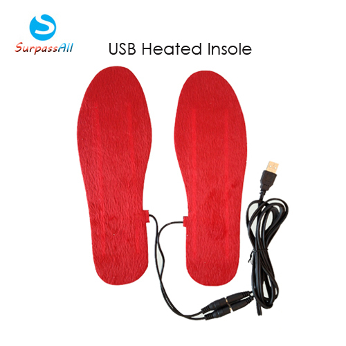 1Pair Man/Women Plush Warming USB Electric Heating Heated For Shoes Insoles Pads(China (Mainland))