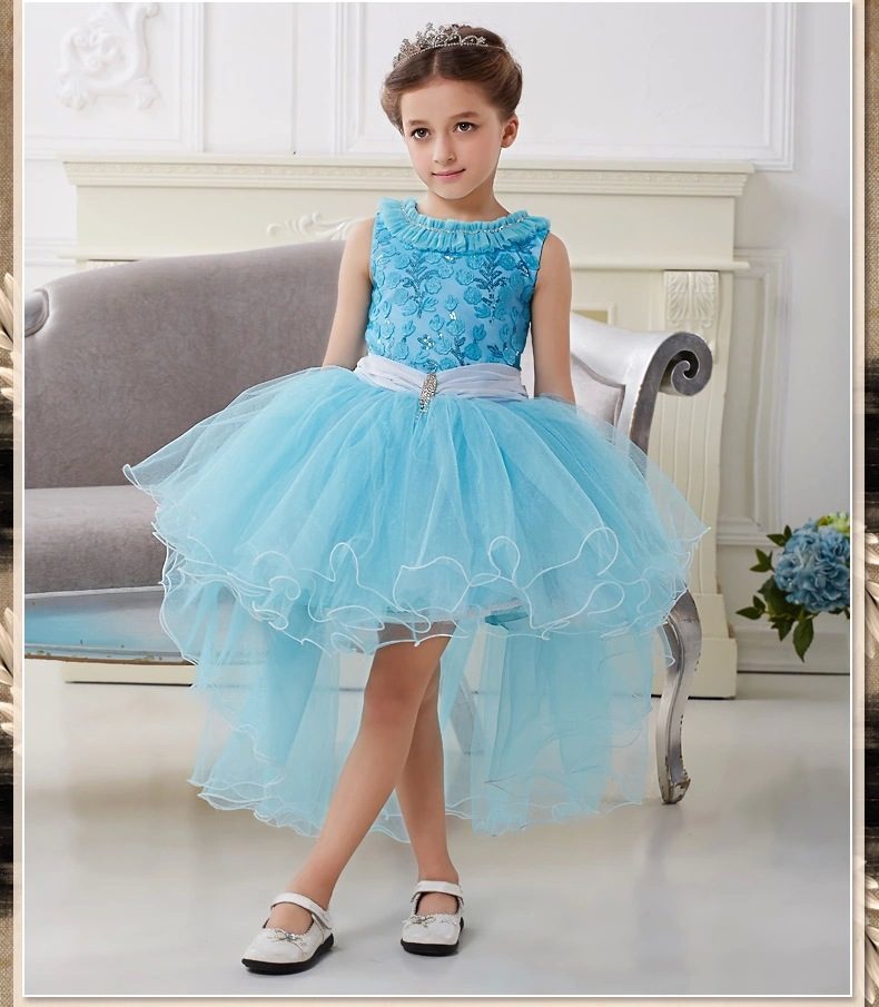 Girl Dresses Snow Queen Princess Costume elza Girls Wedding Princess Dresses Snow White Costume Dress Girl Party Dresses