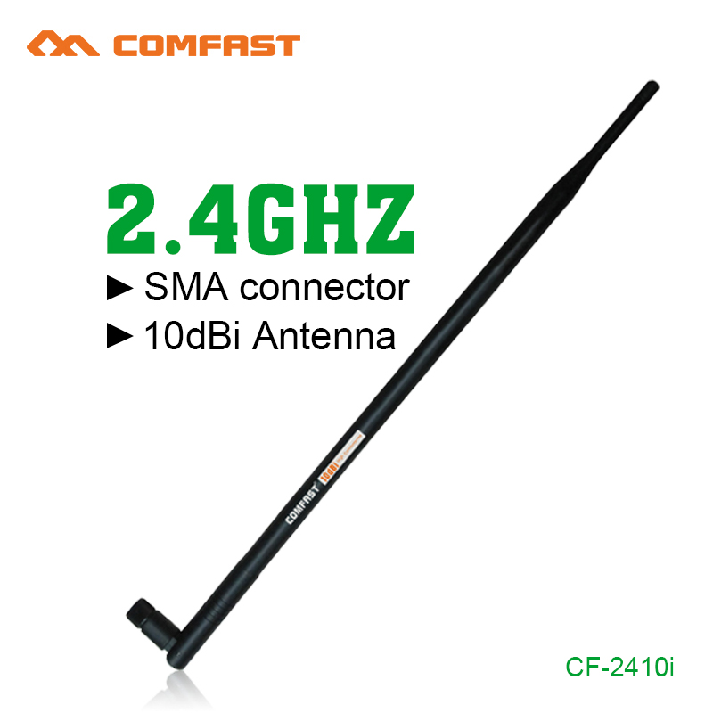 5pcs /lot Comfast Wireless WIFI Antenna Booster 10dBi 2.4GHz Wifi Antennas amplifier WLAN RP-SMA For PCI Card USB Modem(China (Mainland))