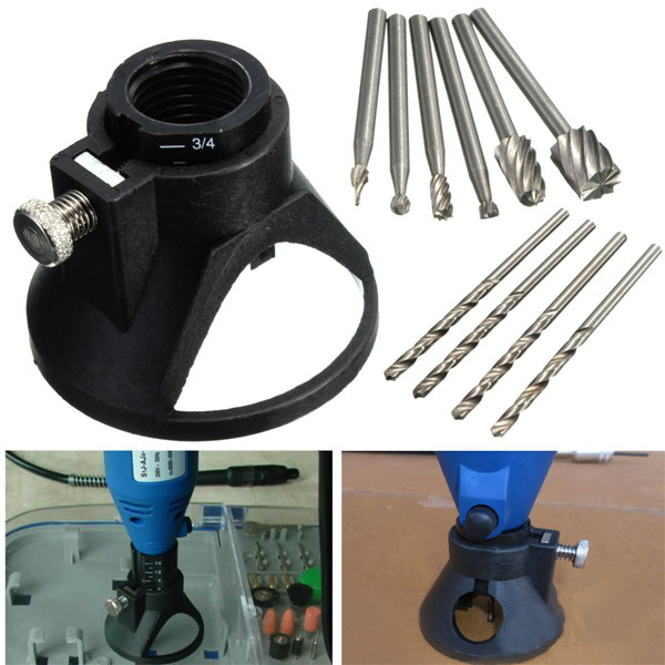 3 sets/Lot _ Drill Carving Locator with 4pcs 3mm Twist Drills and 6pcs Wood Milling Burrs for DremelRotary Tools<br><br>Aliexpress