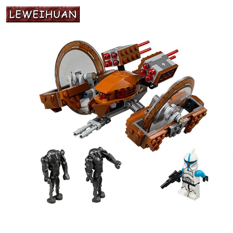 LEWEIHUAN 10370 Star Wars Building Blocks Toys Attack of the Clones Hailfire Droid Exclusive Sets Bricks Gifts(China (Mainland))