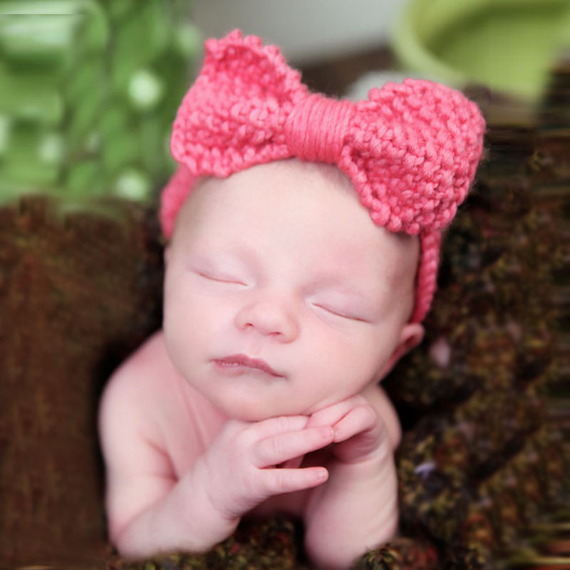 Cute Baby Crochet Headband baby hair band knitted wool earmuffs baby hair accessories Head Wrap Newborn(China (Mainland))