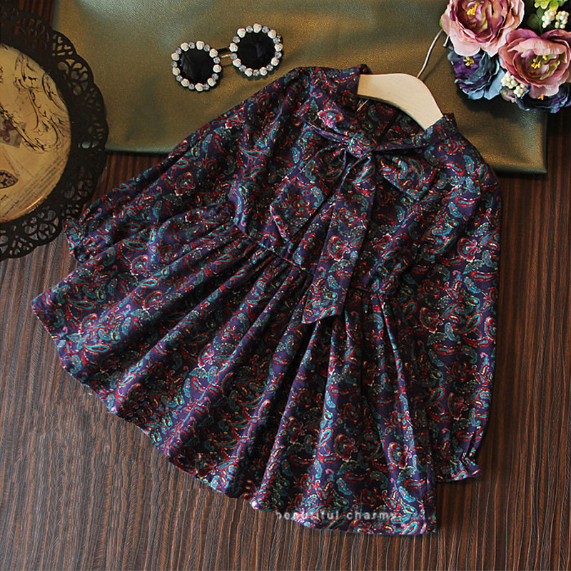 2015 New Arrival Knee-length Casual Ruched A-line Full Print Regular Crew Neck Dresses