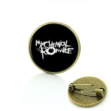 TAFREE 2017 Di Modo distintivo Gioielli Rock Band My chemical romance spilla Slipknot Linkin park pins regalo per gli uomini e le donne c465(China)