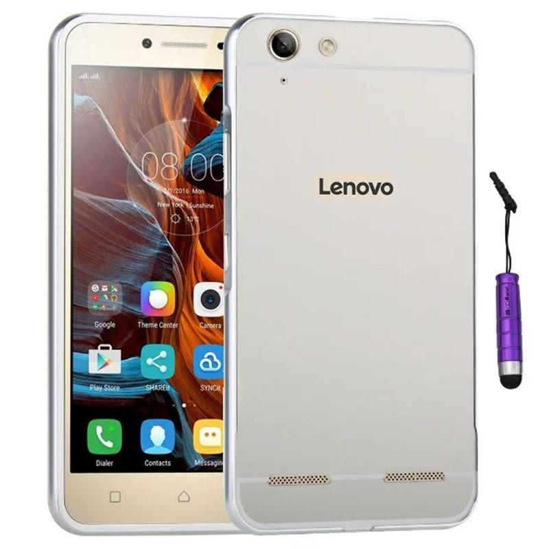 K5 Luxury Gold Plating Armor Aluminum Frame + Mirror Acrylic Back Cover Phone Case For Lenovo VIBE K5 Plus Set Hot Phone Bag(China (Mainland))