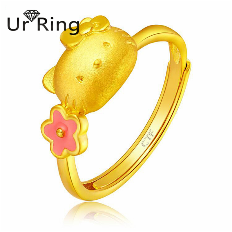 popular hello kitty gold ringbuy cheap hello kitty gold