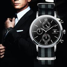 SINOBI Military Sport Watches For Men Nylon Watchband Watch Men Chronograph Quartz Wristwatch Waterproof James Bond 007 Clock(China (Mainland))