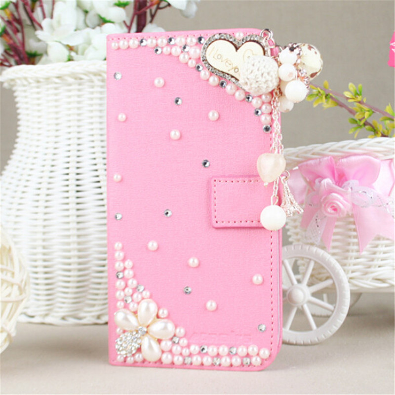 New Fashion Bling Diamond Holster Flip Leather back cover skin PU Leather cell phone case For Oppo A53(China (Mainland))