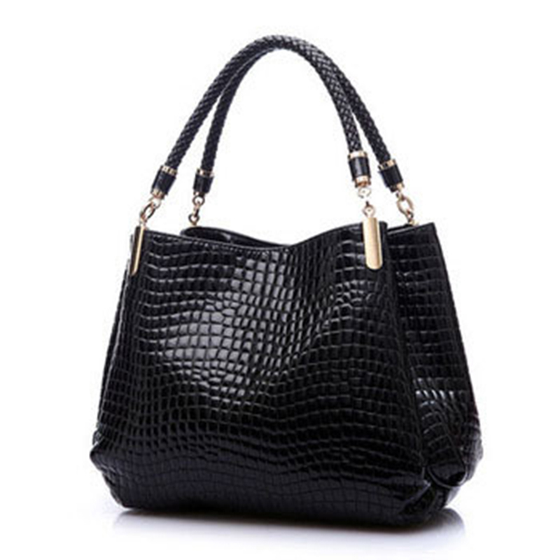 2015 Luxury Women Leather Handbags Famous Brands Shoulder Bags Ladies Bolsas Femininas Mujer Clutch Crocodile Female Tote Bag(China (Mainland))